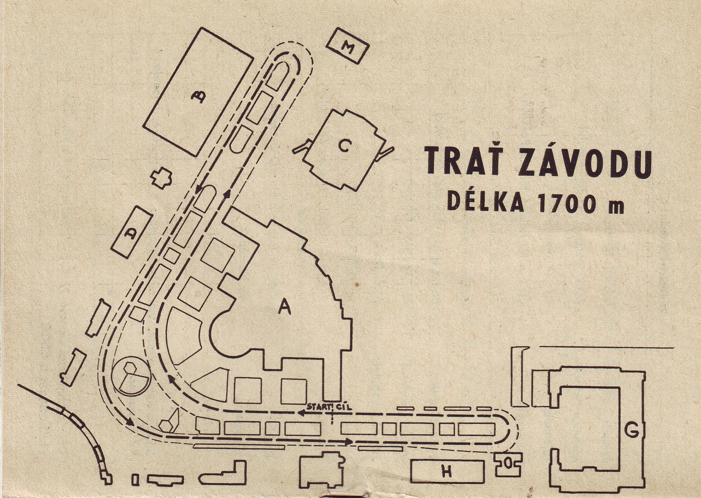 Map of race track Brno Revival